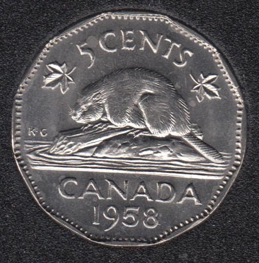 1958 - B.Unc - Canada 5 Cents