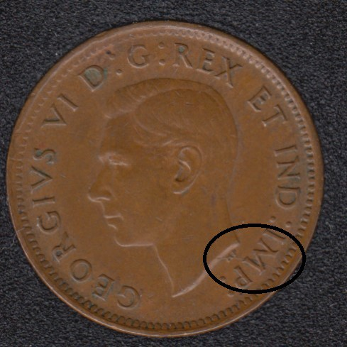 1941 - Break Bust to HP to M to Rim - Canada Cent