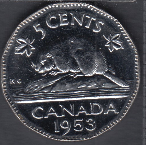 1953 - NSF - Unc - Canada 5 Cents