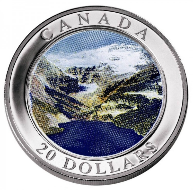 2003 - $20 Dollars Fine Silver The Rocky Mountains HOLOGRAM