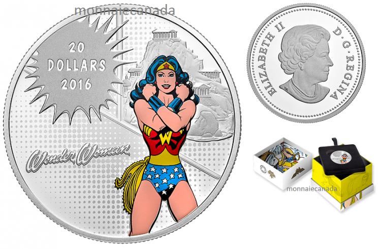 piece de monnaie wonder woman