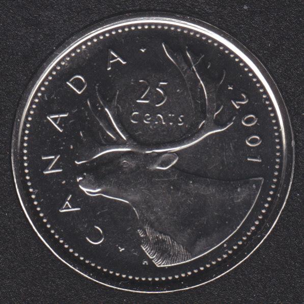 2001 P - NBU - Canada 25 Cents