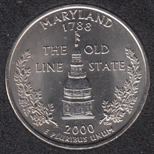 2000 D - Maryland - 25 Cents