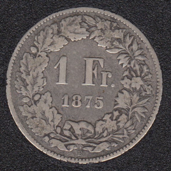 1875 B - 1 Franc - Switzerland
