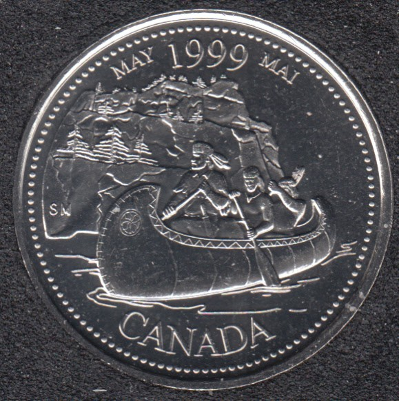 1999 - #5 B.Unc - May - Canada 25 Cents