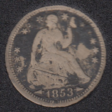 1853 - Liberty Seated - Arrows - Half Dime