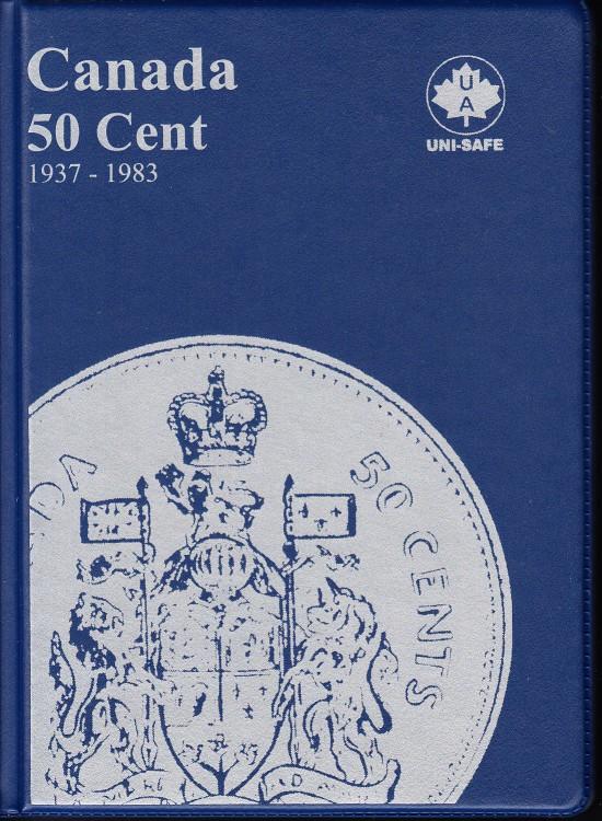 50¢ Album Canada Uni-Safe (Cinquante Cents) 1937-1983