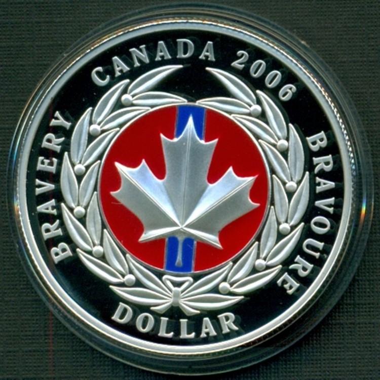 2006 Dollar en Argent Fin Médaille de la Bravoure Émaillé Épreuve Numismatique