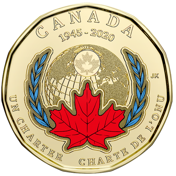 2020 - B.Unc - 75th Anniversary of the Signing Of The United Nations - Canada Dollar Colored