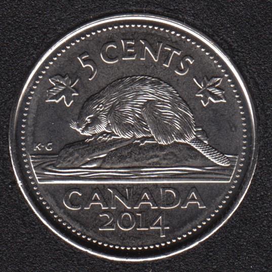 2014 - B.Unc - Canada 5 Cents