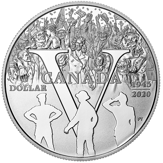 2020 - $1-  Proof Silver Dollar - 75th Anniversary of V-E Day