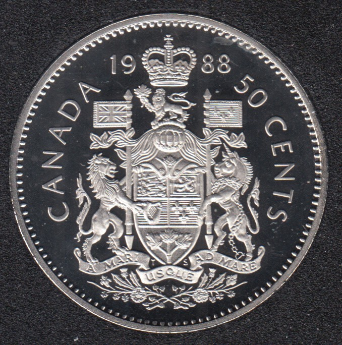 1988 - Proof - Canada 50 Cents