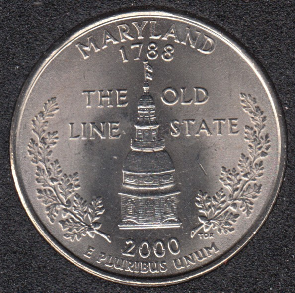 2000 P - Maryland - 25 Cents
