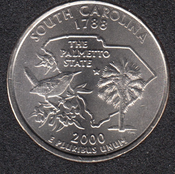 2000 P - South Carolina - 25 Cents