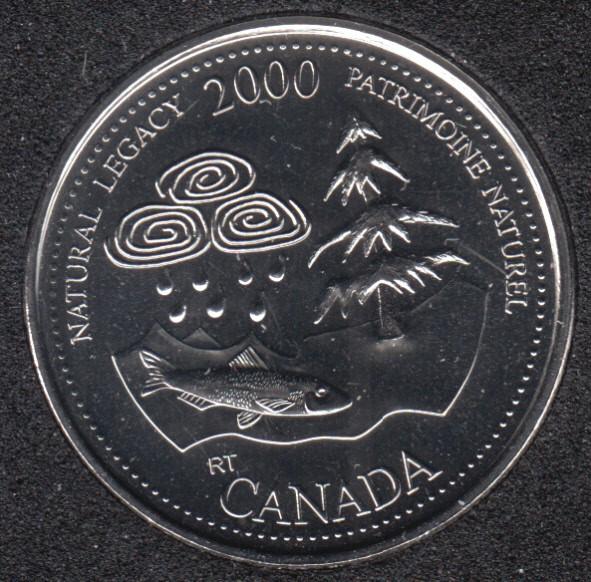 2000 - #5 NBU - Natural Legacy - Canada 25 Cents