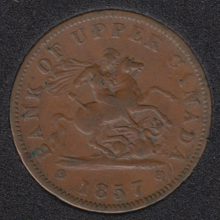 P.C. 1857 Bank of Upper Canada Penny - VF - PC-6D