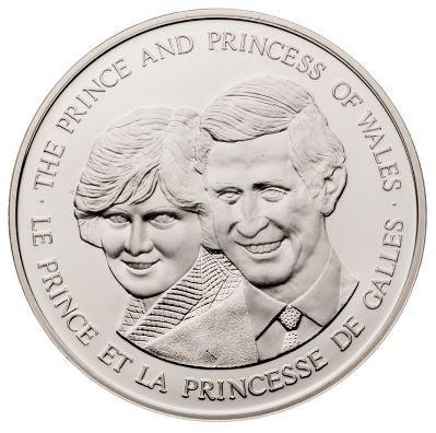 1983 - Prince et Princesse de Galles - Médaillon - Argent - Diana & Charles - Canada