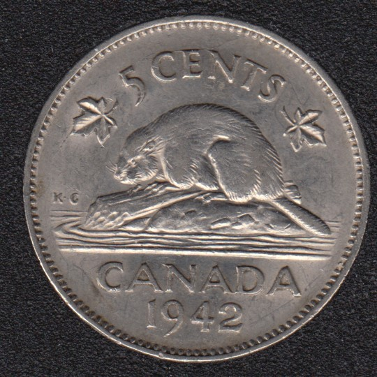 1942 - VF - Canada 5 Cents