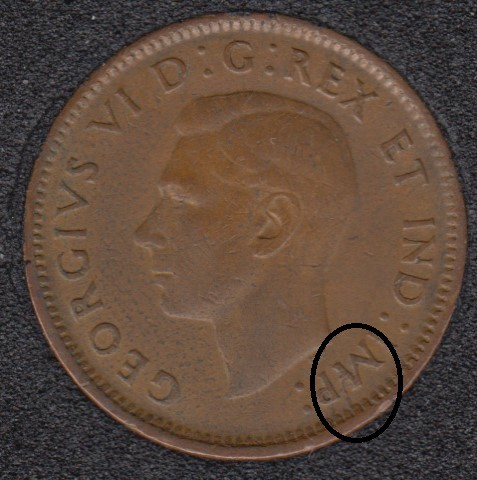 1944 - Break M to Rim - Canada Cent