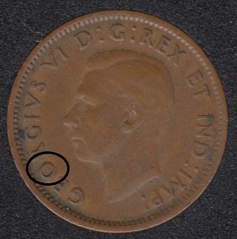 1945 - Dot on O - Canada Cent