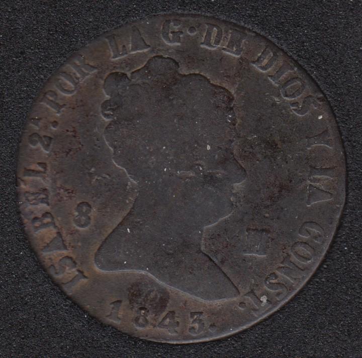 1843 - 8 Maravedis - Spain