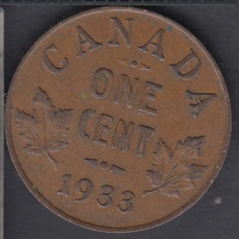 1933 - VF/EF - Canada Cent