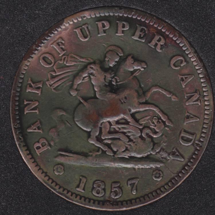 P.C. 1857 Bank of Upper Canada Penny PC-6D