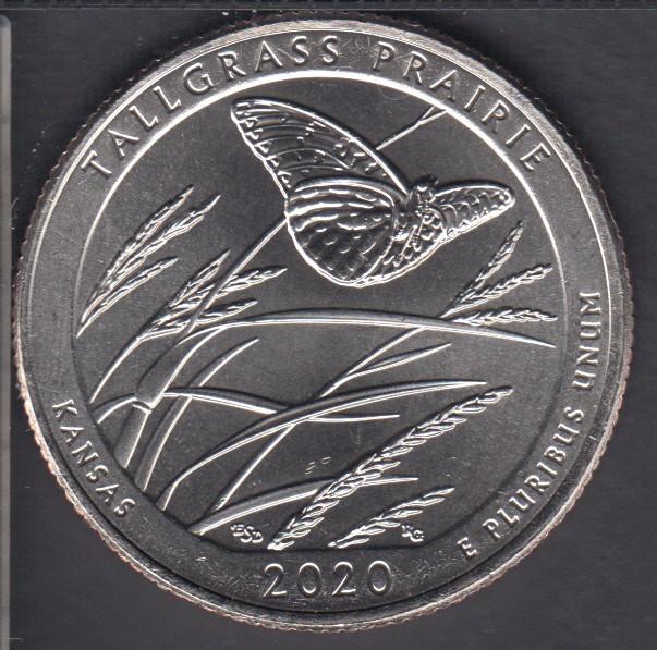 2020 D - B.Unc - Tallgrass Prairie - 25 Cents