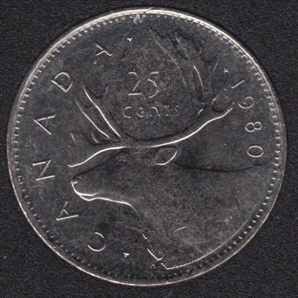 1980 - B.Unc - Canada 25 Cents