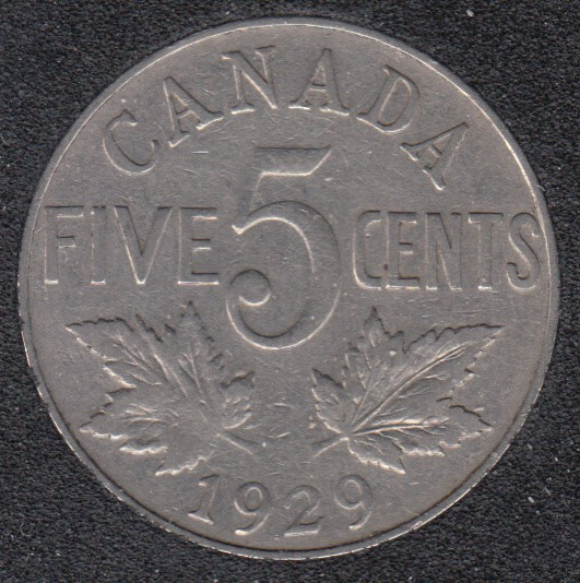 1929 - Canada 5 Cents