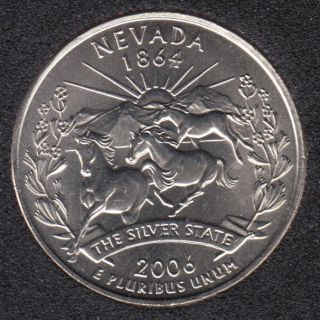 2006 D - B.Unc - Nevada - 25 Cents
