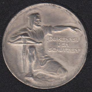 1924 - Swiss Shooting Medal - Aargau (Aarau). Canton silver Medal