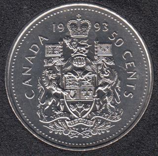 1993 - B.Unc - Canada 50 Cents