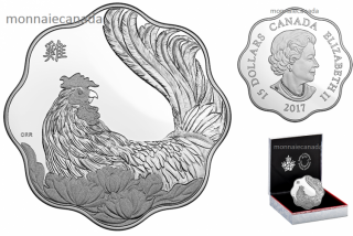 2017 - $15 - Pure Silver Lunar Lotus Coin – Year of the Rooster