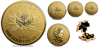 2018 - 99.999% Pure Gold 4-Coin Fractional Set - The Maple Leaf