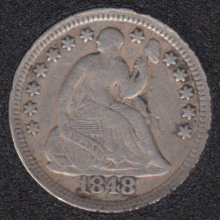 1848 - Half Dime - 5 Cents