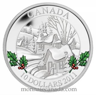 2011 - $10 - Fine Silver Coin - Winter Town