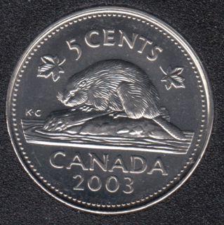2003 P - B.Unc - OE - Canada 5 Cents
