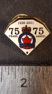 #134 Royal Canadian Legion 75yrs 1926-2001 Enamel Lapel Pin