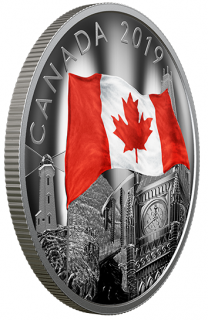 2019 - $30 - 2 oz. Pure Silver Coin - The Fabric of Canada