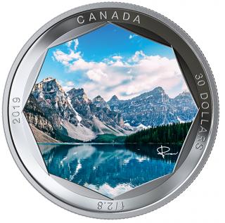 2019 - $30 - Pure Silver Coloured Coin - Peter McKinnon Photo Series: Moraine Lake