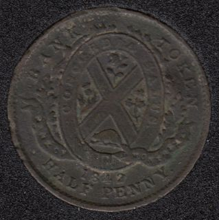 P.C. 1842 Half Penny Token Banf of Montreal View PC-1A3