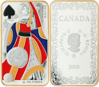 2008 $15 Sterling Silver Coin - Queen of Spades