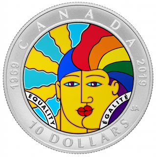 2019 - $10 - Pure Silver Coin - EQUALITY