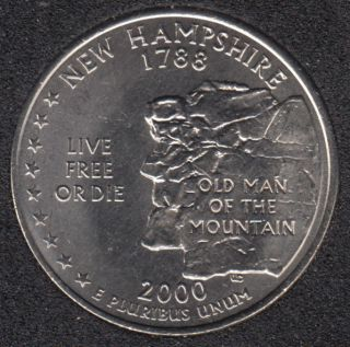 2000 D - New Hampshire - 25 Cents