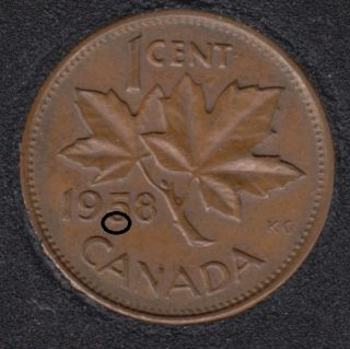 1958 - Dot 5 - Canada Cent