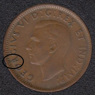 1945 - Break R to Rim - Canada Cent