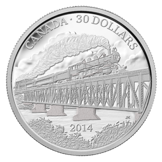 2014 - $30 - 2 oz. Fine Silver Coin – Grand Trunk Pacific Railway