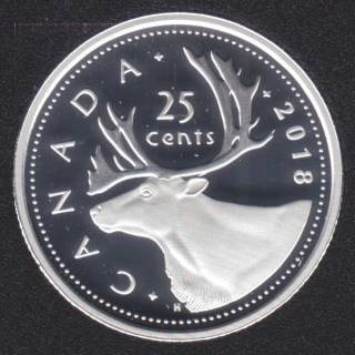 2018 - Proof - Argent Fin - Canada 25 Cents