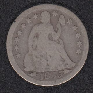 1855 - Liberty Seated - 10 Cents